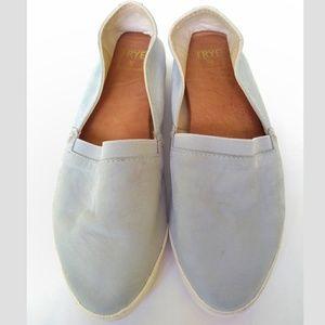 Frye Melanie Slip On Sneakers Flats 7 Blue Suede
